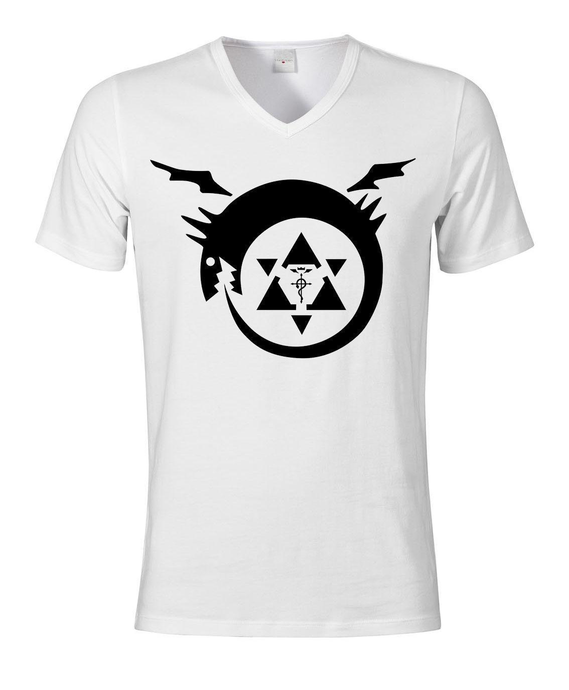 Fullmetal Alchemist Homonculi Symbol Art Stylish Fashion Men V Neck