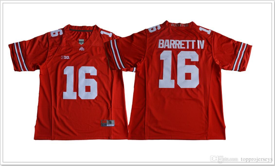 New Ohio State Buckeyes #16 J. T. Barrett Mens Vintage College American Football Sports Shirts Pro team Jerseys Stitched Embroidery For Sale