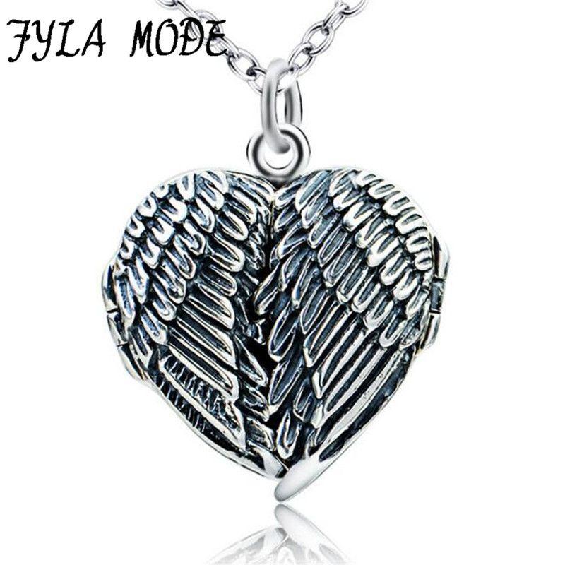 Großhandel 100% Echt Reine 925 Sterling Silber Herz Medaillon ...