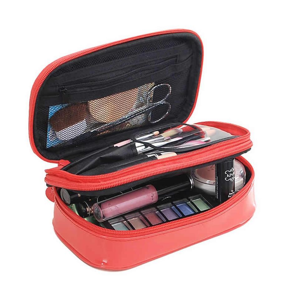 8de2306bc2 Travel Functional Cosmetic Bag Women Double Layer Zipper Makeup Case Animal Make  Up Bags Organizer Storage Pouch Toiletry Bag Makeup Storage Makeup Brush ...