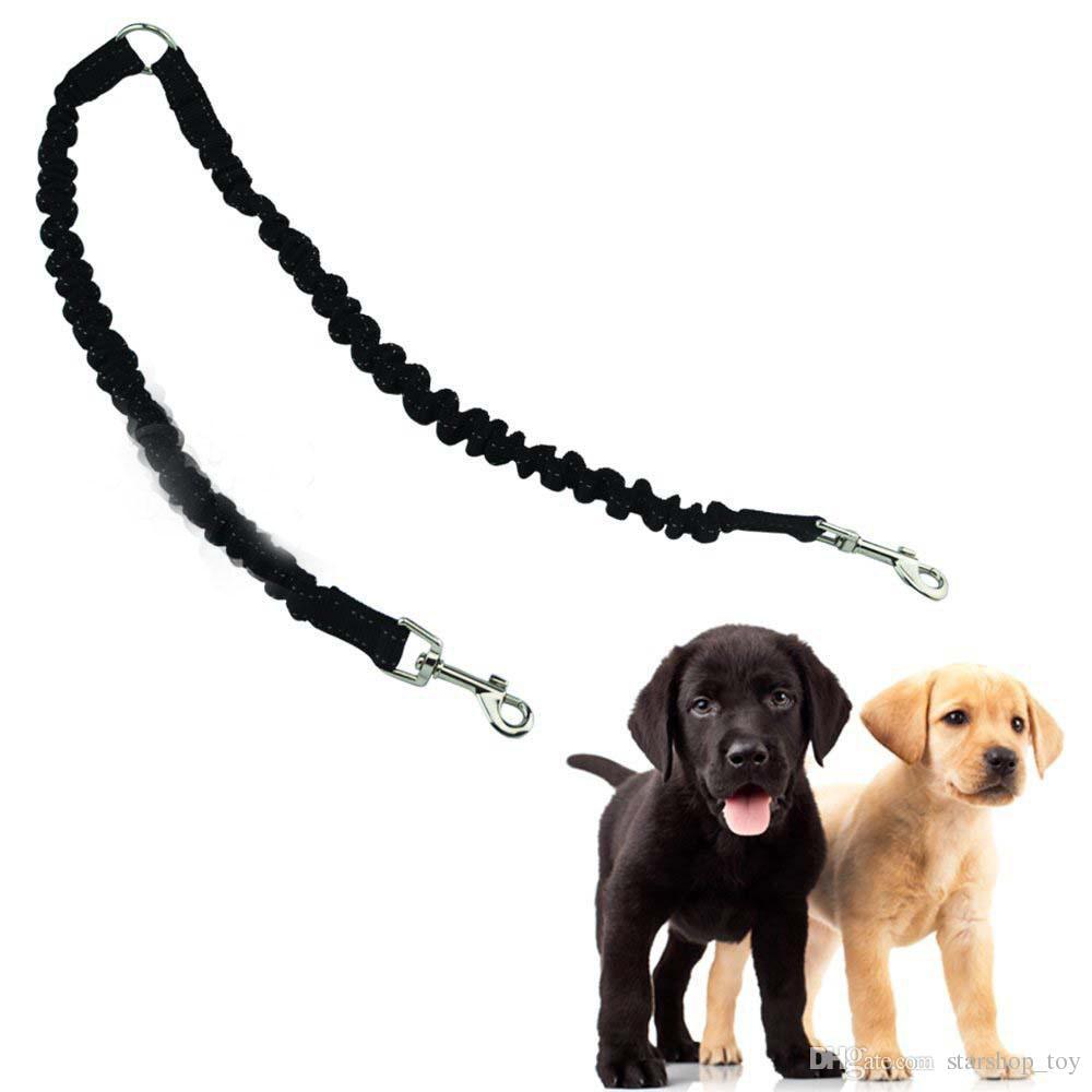 Haustier Hundekupplung Bungee Leine Doppel Walking Blei Elastische Zwei Hunde Leine Splitter Seil Haustier Tiere Kette Strap Zubehör SHH7-1174