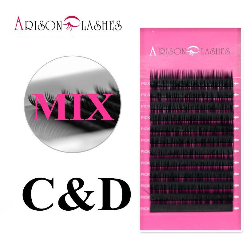 0944e04cad6 All Size C D Curl Mixed Individual Mink Eyelash Extension Soft Black Fake  False Eye Lashes Makeup Tool Arison Lash How Much Are Eyelash Extensions  Lash ...