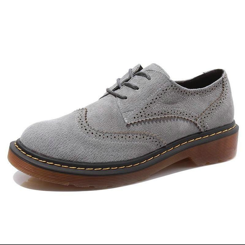 3fd76029c799 Black Grey Blue Creepers Martin Shoes Plus Size 43 Lace Up Oxfords Shoes  Woman Flats Casual Ladies Platform Chaussure Boty High Heel Shoes Mens  Casual Shoes ...