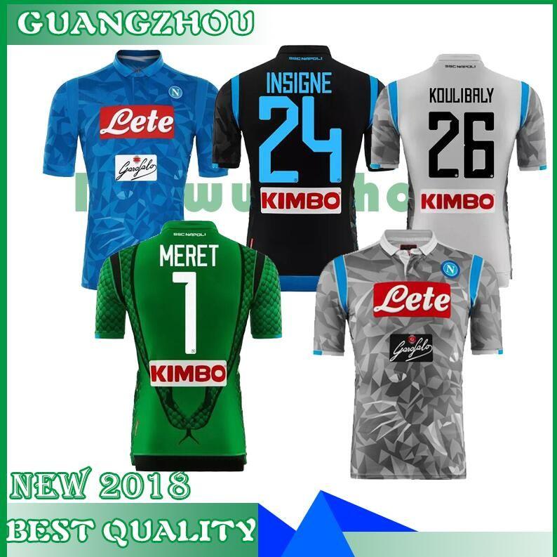 2018 2019 Serie A Nápoles Nuevo Napoli Hogar Lejos Camisetas De Fútbol  Tercera Camiseta De Fútbol Azul De Nápoles Camisetas Para Hombres 18 19  HAMSIK ... f07f213685639