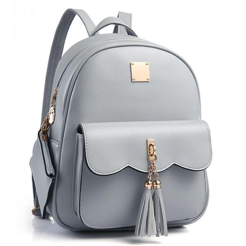 f69616ade089 Tassel Women Backpack PU Leather Backpacks Female High Quality ...