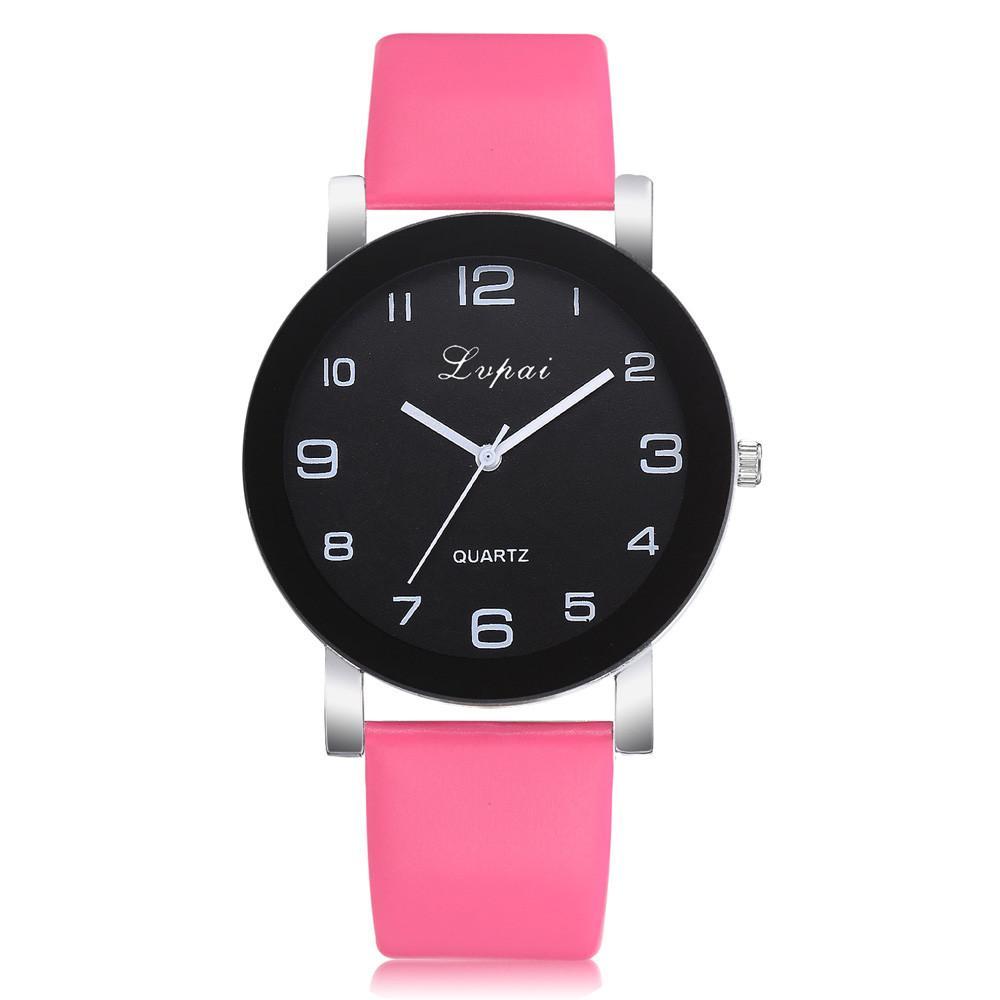 002a3c7f685 Compre Lvpai Mulheres Casual De Quartzo Pulseira De Couro Relógio Analógico  Relógio De Pulso Da Mulher De Boyanghu