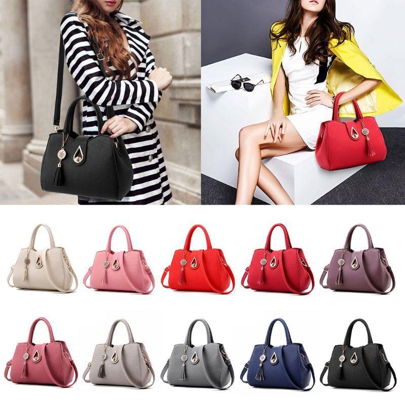 Fashion New Women Leather Tassel Messenger Lady Hobo Handbag Shoulder Bag  Tote Female Large PU Purse Satchel Crossbody Bag Wholesale Bags Over The  Shoulder ... 505d3bd9eea2b