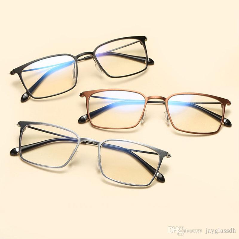 174e241f44 High Quality Optical Glasses Frame Aluminum Magnesium Blue Light Filter  Computer Eyeglasses Anti Radiation Goggles Spectacle Frames Glasses For Men  Mens ...