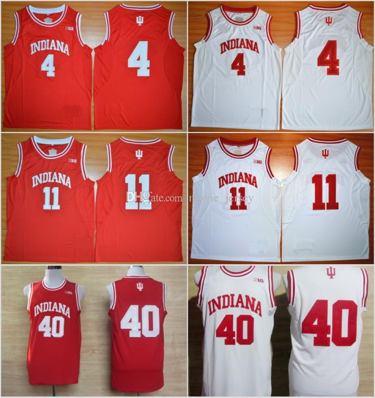low cost 3ed3b 40438 College Basketball Shirt 11 Isiah Thomas Jerseys Indiana Hoosiers 4 Victor  Oladipo 40 Cody Zeller Uniform Rev 30 New Material Red White