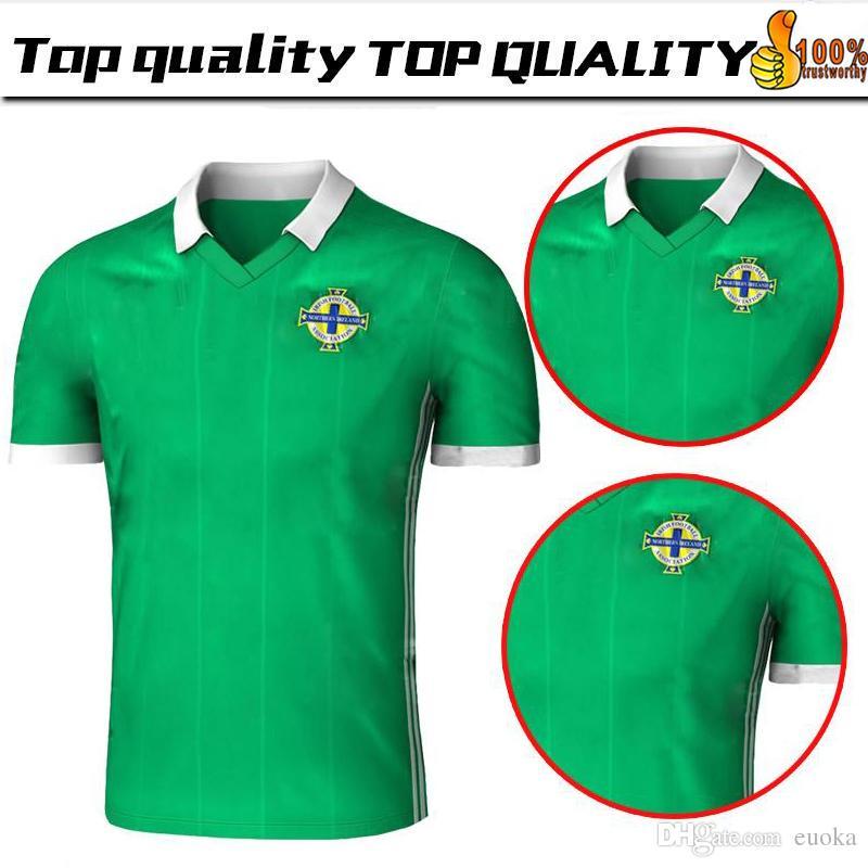 Top Thailand Quality Northern Ireland Soccer Jerseys 2018 Home Green Tuaisceart  Eireann McNAIR K.LAFFERTY DAVIS Football Shirts Jerseys 2018 World Cup ... 07ef32364