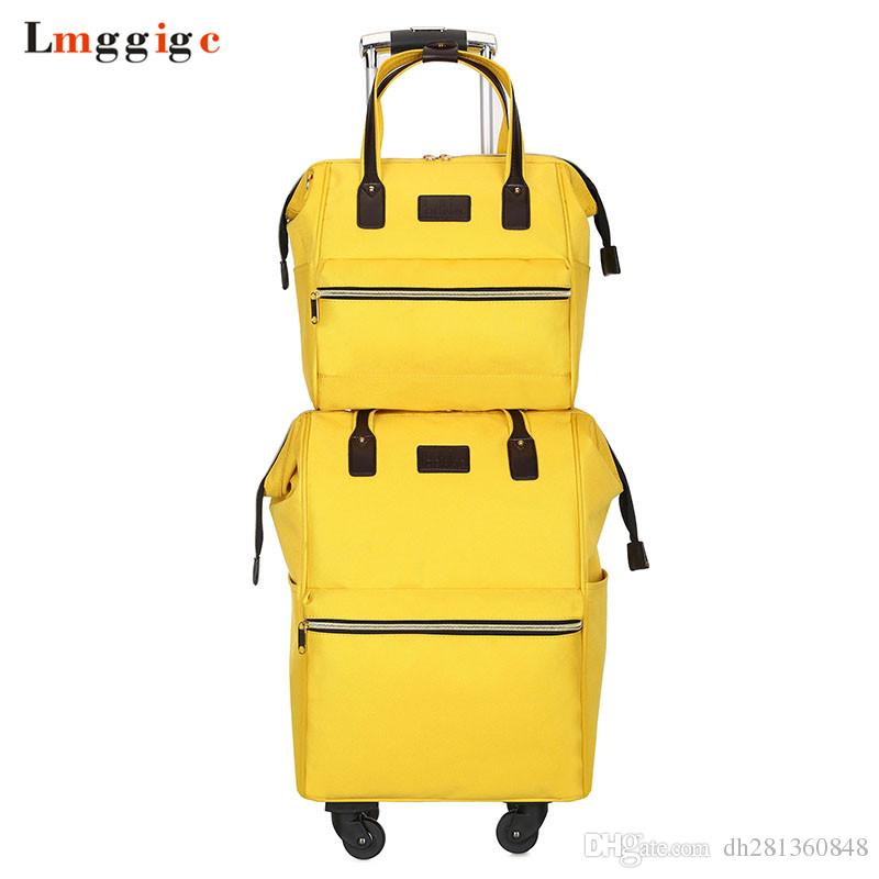 688b28d52 Rolling Cabin Luggage set,Travel Suitcase Bag,Oxford cloth Trolley Case,Nniversal  wheel Carry-On, soft box with backpack