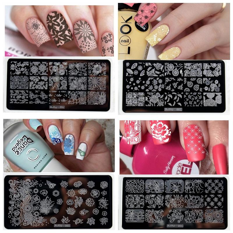 10 Styles Zjoy Nail Printer Nail Art Stamping Plates Manicure
