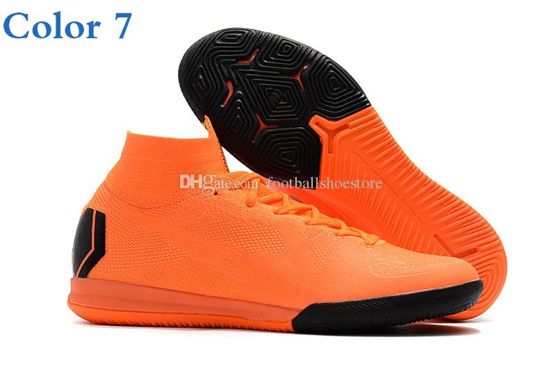 2018 mens soccer cleats Mercurial SuperflyX VI Elite CR7 indoor soccer shoes turf youth Crampons de football boots Mercurial Superfly 360
