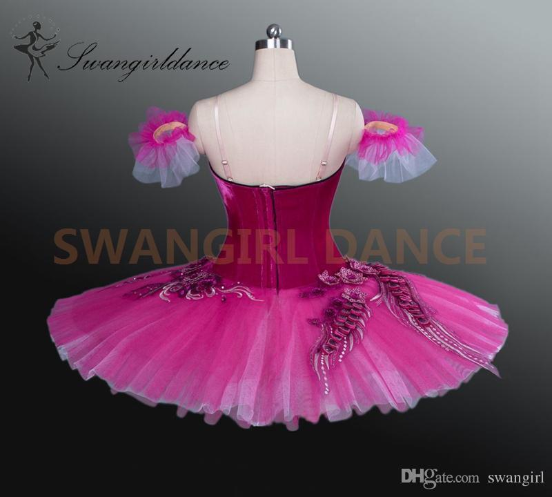 Fada de ameixa de açúcar rosa escuro Don Quixote variação profissional Ballet Tutu vestido Paquita bailarina mulheresBT9040