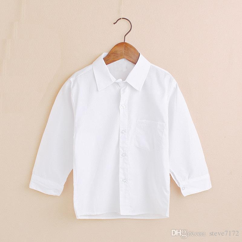 Compre Clásico Sólido Camisas Para Bebés Niños Algodón Camiseta Para Niños  Escolares Camiseta De Jersey Blusa Para Niños Camisa De Uniforme De  Estudiante ... 84d4497b7a1c8