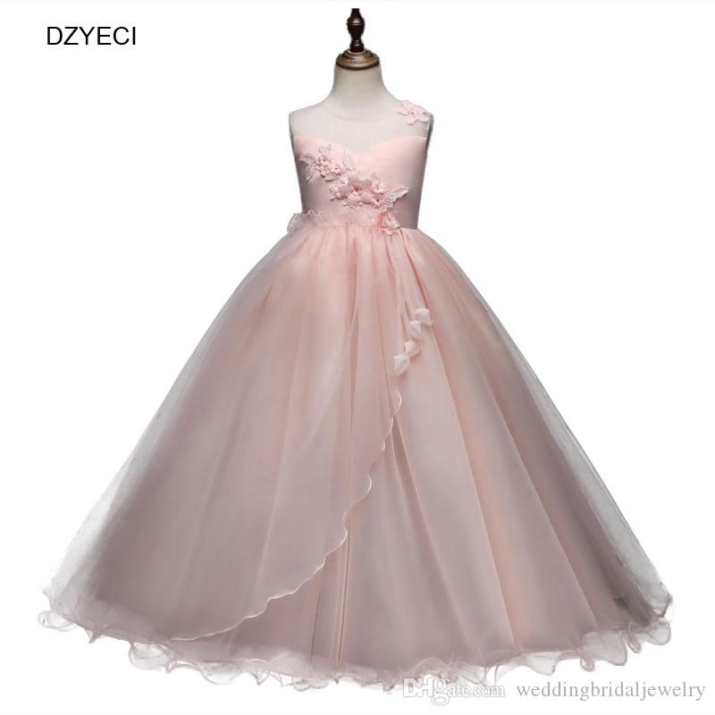 1d6b11665f1 Fashion Teenager Girl Floral Bow Dresses For Carnival Costumes Kid Flower Lace  Party Wedding Frock Children Bridesmaid Formal Dress Girl Dress Bridesmaid  ...
