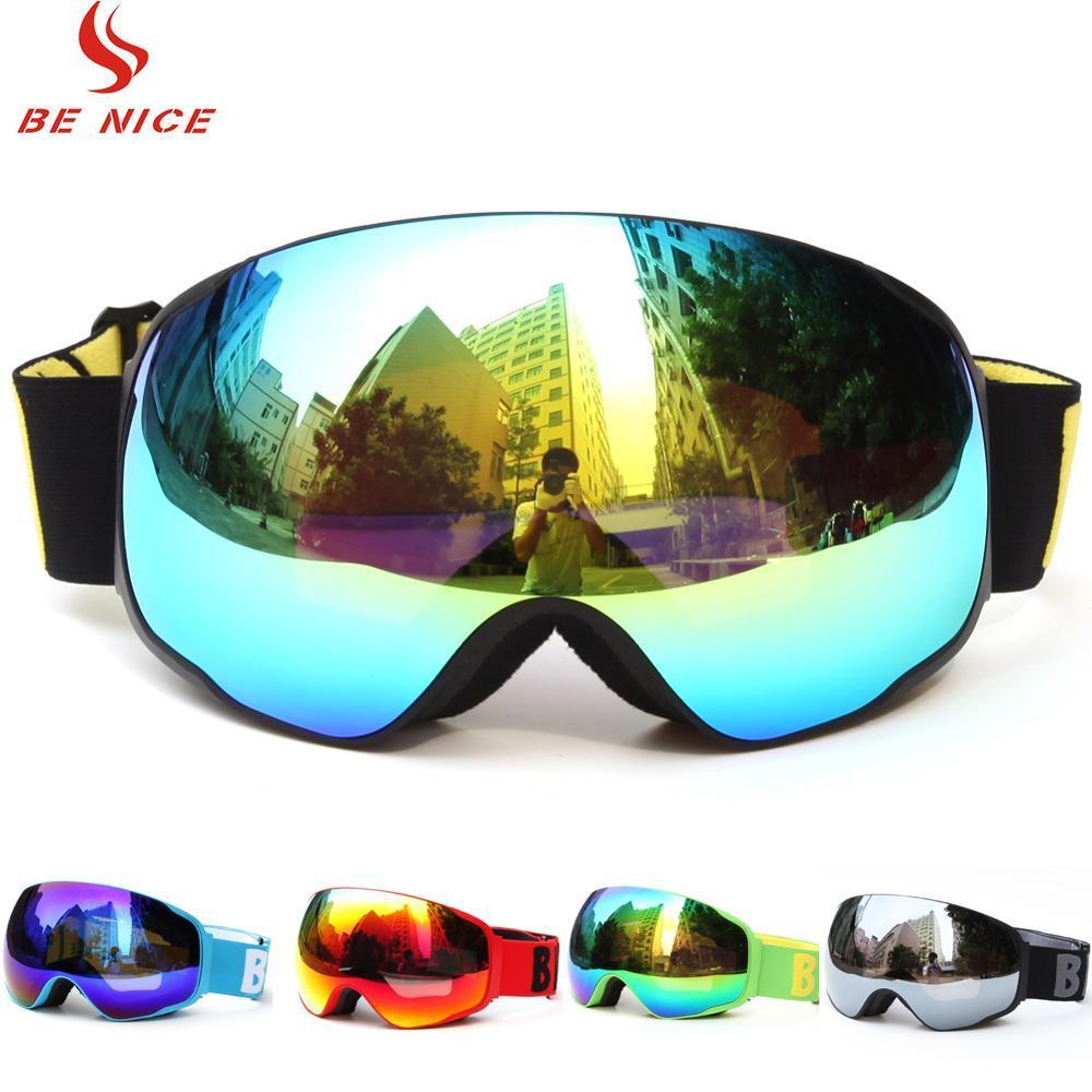 db9f4c24a4 Compre Benice Gafas De Esquí Snowboard Esquí Gafas Gafas Máscara Lentes  Grandes Con Doble Espejo UV400 Antivaho Moto De Nieve Para Adultos A $44.11  Del ...