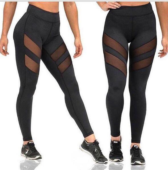 baea6060f15 2019 Womens Printed Beauty Yoga Gym Leggings Pants Leggings Women Mesh  Splice Fitness Slim Black Legging Active Wear Women Clothing New Leggins  From Guck