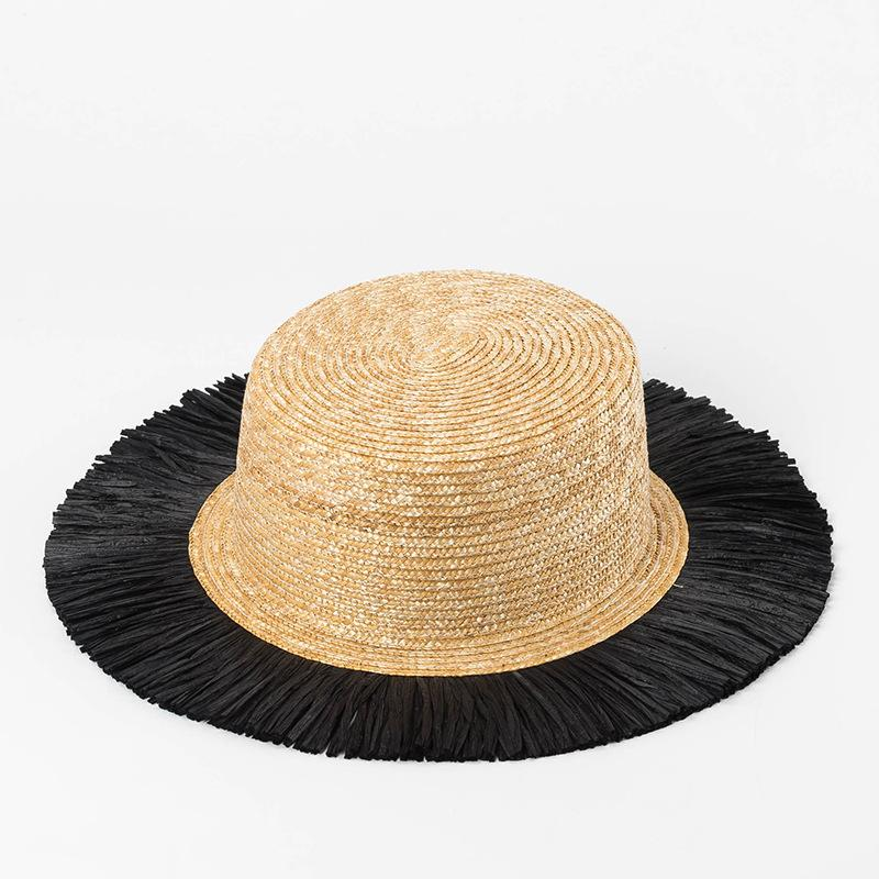 Boater Hat Women Sun Hats For Summer Holiday Cloche Hats For Ladies Elegent  Straw With Black BrimTop Quality681080 Vintage Hats Mens Caps From  Homejewelry 7aa097cc2e7
