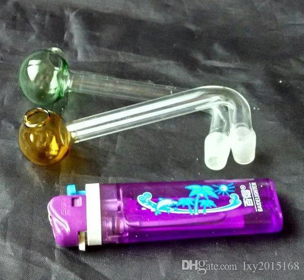 Pote de ángulo recto de la burbuja grande del nuevo color, bongs de cristal al por mayor, cachimba de cristal, accesorios del tubo del humo