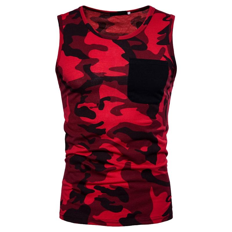 4cee3284e35b5 2019 CALOFE Men Camouflage Tank Top Summer Breathable Quick Drying Cotton  Pocket Sleeveless Shirts Fitness Men Casual Undershirts From Paluo