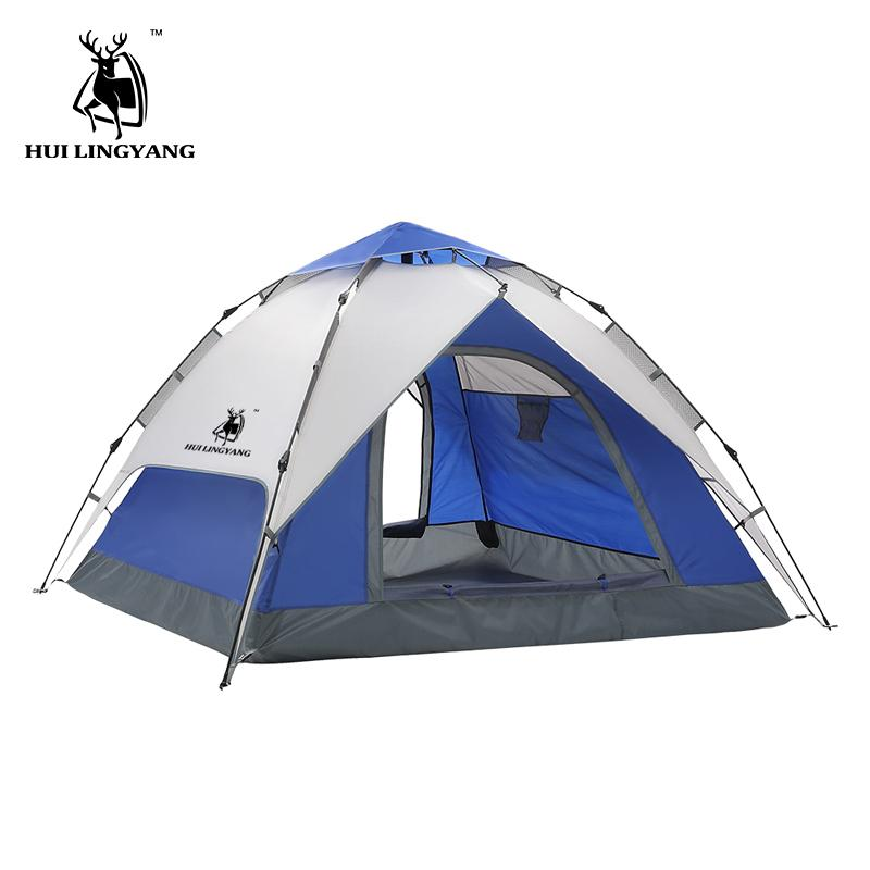 Cheap Tent Tarp Best Kids Teepee Tents  sc 1 st  DHgate.com & 3-4 Person Hydraulic Automatic Camping Tents Waterproof Double Layer ...