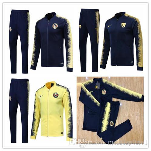 1f6fa33a5 2019 2019 Mexico Club America Jacket Training Suit 18 19 GUERRON CALDERON  CASTILLO Football Cougar UNAM Football Jackets Tracksuit Set From  Mess1sp0rto1