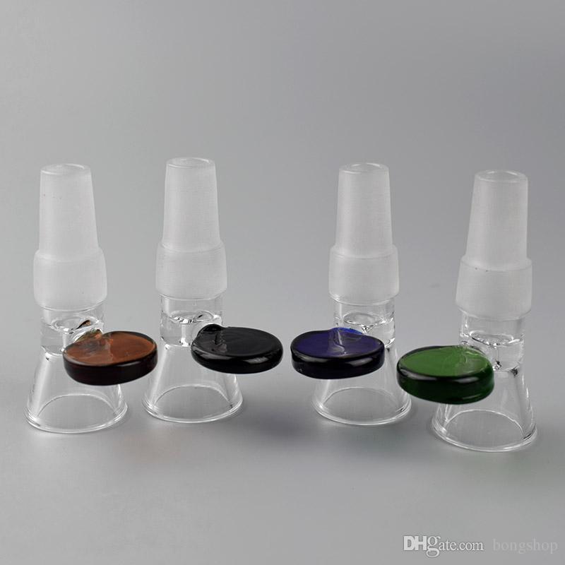 Универсальная стеклянная чаша. Мужская чаша с точечной ручкой. Подходит для 14мм и 18мм. Женское соединение. Стеклянные бонги.