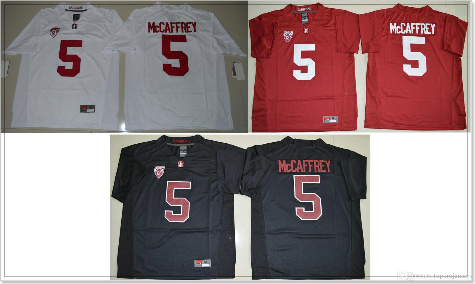 eb336e38 Stanford Cardinal #5 Christian McCaffrey Mens Red Black College American  Football Vintage Sports Shirts Pro Team Jerseys Stitched Embroidery Canada  2019 ...