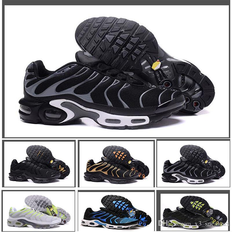new style 45a83 20eaf Compre Nike Air Max TN Descuento Zapatillas De Deporte De Alta Calidad  Nuevos Hombres Negro Blanco Rojo Hombre Transpirable Corredor Zapatillas De  Deporte ...
