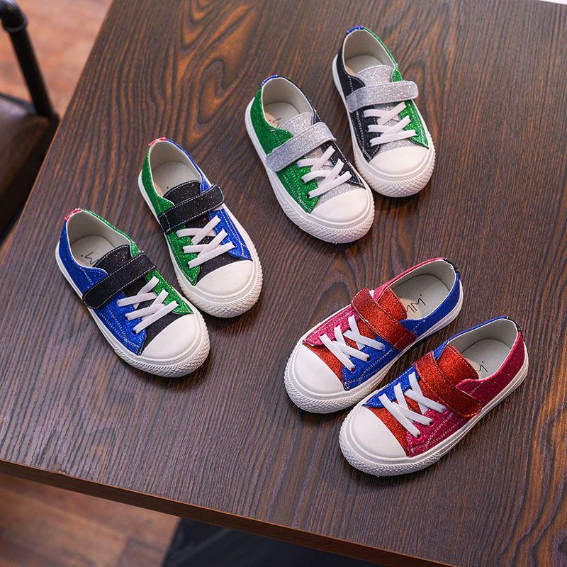 9bbbe3972 Compre Zapatillas De Deporte Para Niños Lentejuelas Brillantes Zapatos Para  Niñas Zapatos Para Niños Casual Zapatillas Patchwork Pisos Para Bebés  Princesa ...