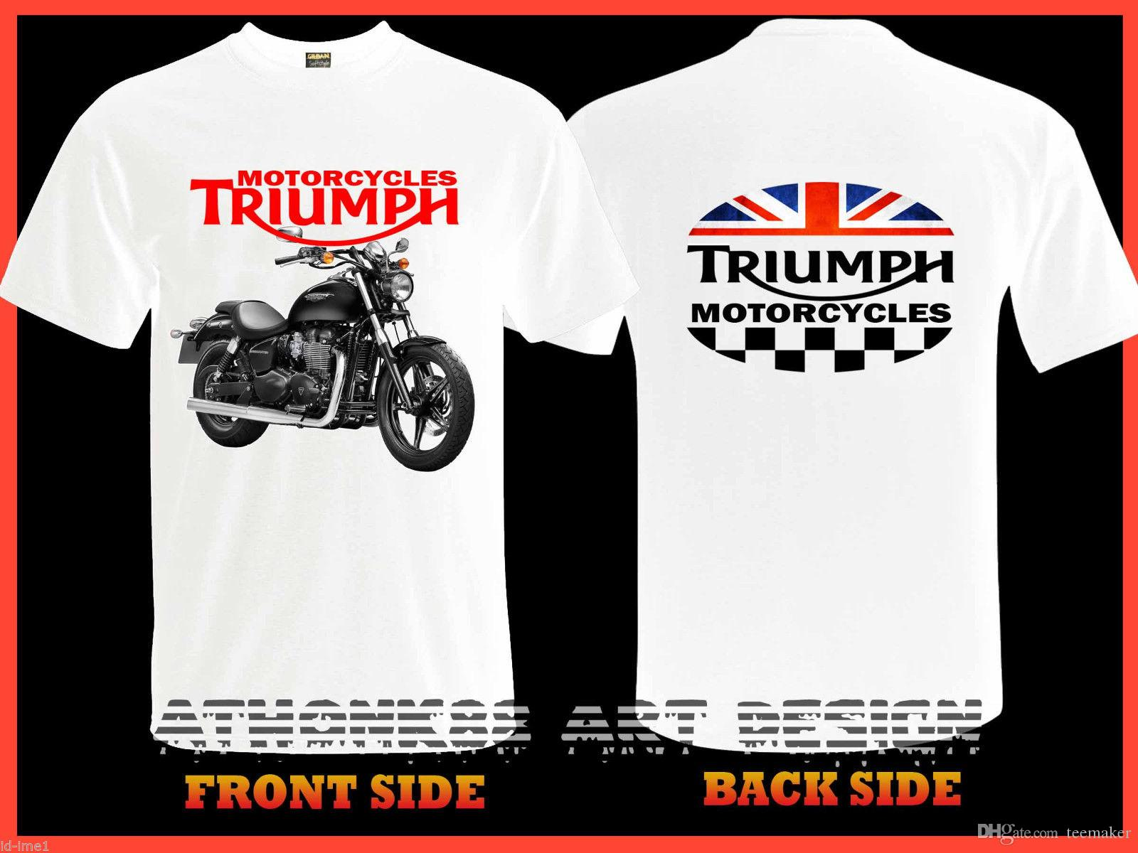 fbb116bed New Triumph Speed Master Motorcycles T Shirt White Triumph Tee Shirt Newest  2018 Men T Shirt Fashion T Shirts Funny Great T Shirts From Tshirthell, ...