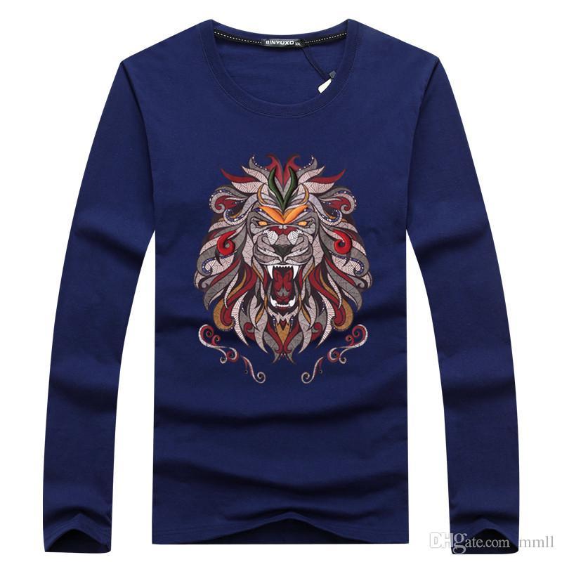 c91639d1e5a76 Hot Sales 2018 Mens Summer Autumn Tees Long Sleeve T Shirt Lion 3D  Basketball Shooting Sportswear Print Cotton T Shirt Mant Men Designer Tee  Shirt T Shirt ...