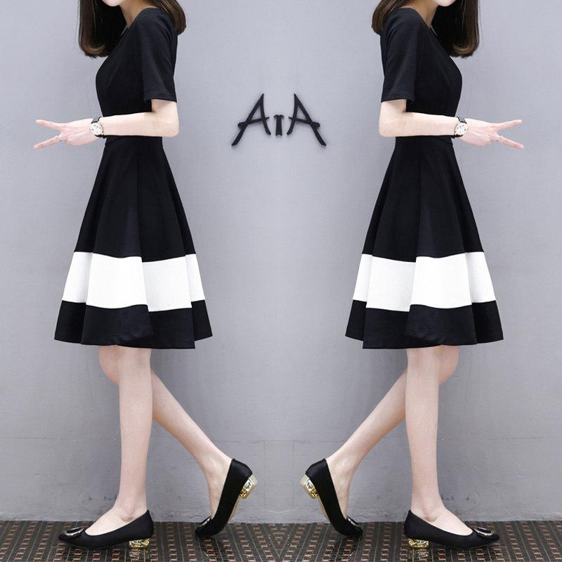 1fa165310b8 Workplace casual dress spring and summer fashion simple and elegant women s  dress