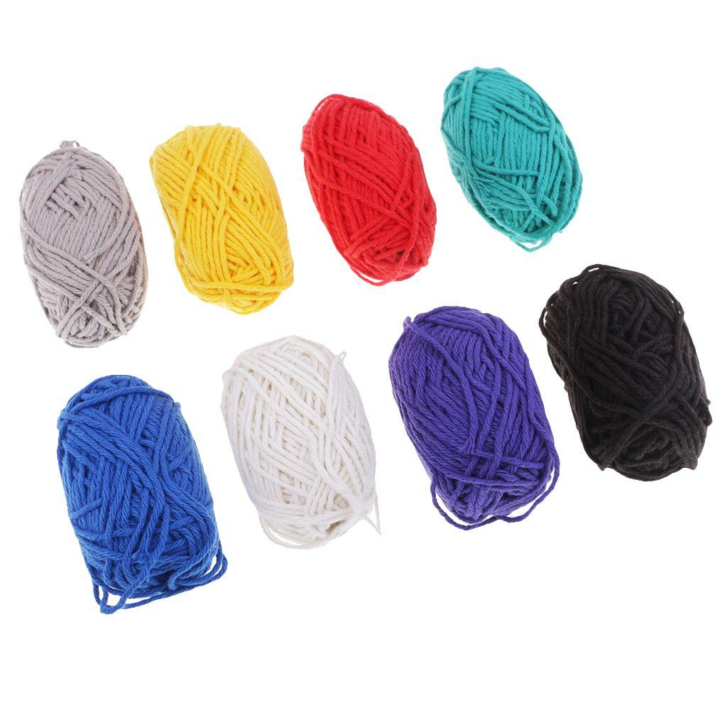 Großhandel Fityle 8 Stück Weichen Regenbogen Farben Baumwolle Häkeln