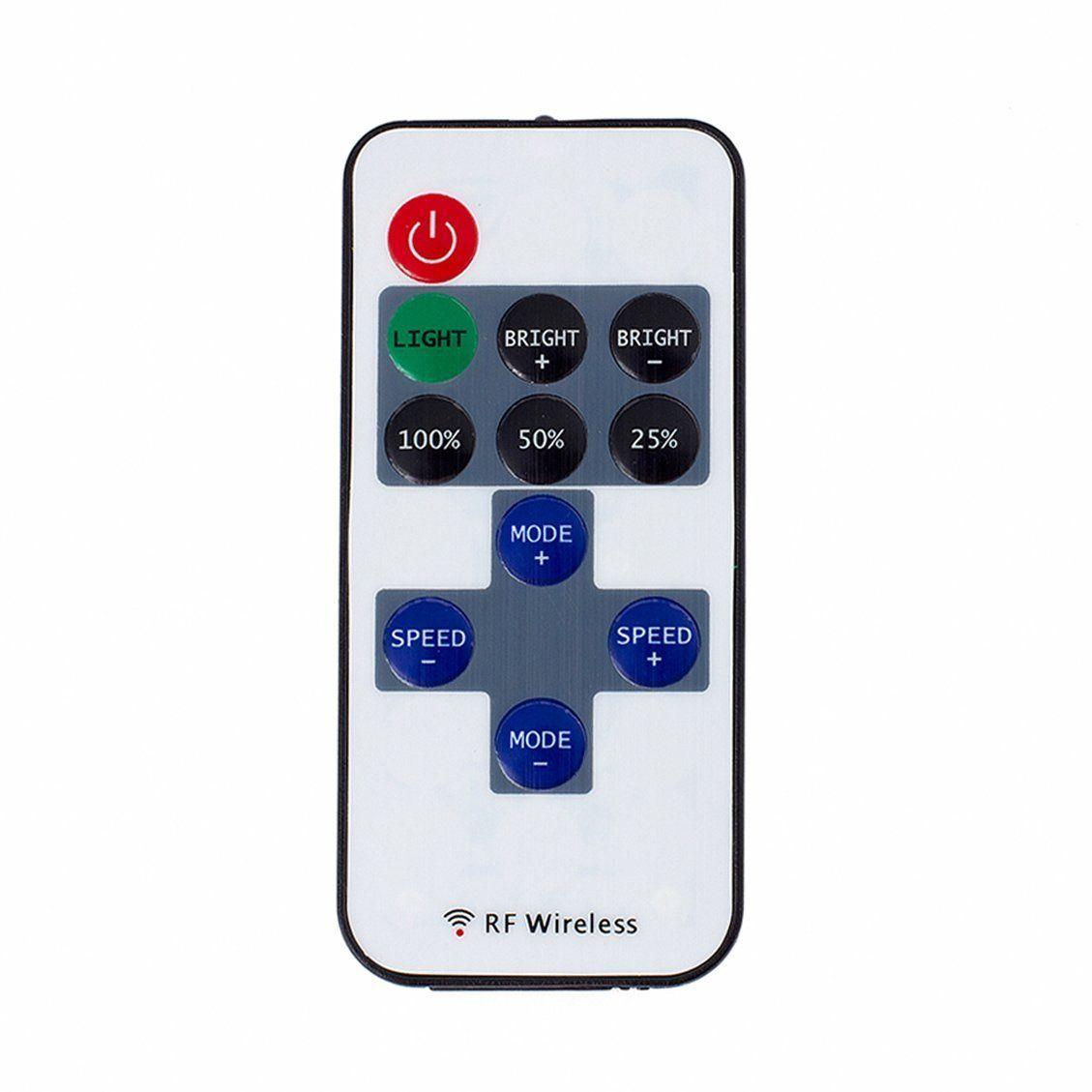 LED strip light controller 11key RF wireless remote control brightness adjustable 12V 24V power supply 6A output