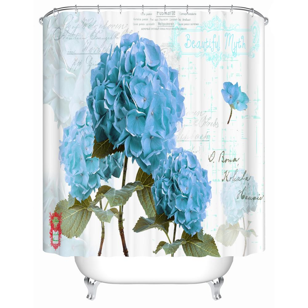 2018 Vintage French Flower Shower Curtain For The Bathroom 3d Print Water Closet Decoration From Crape 4067