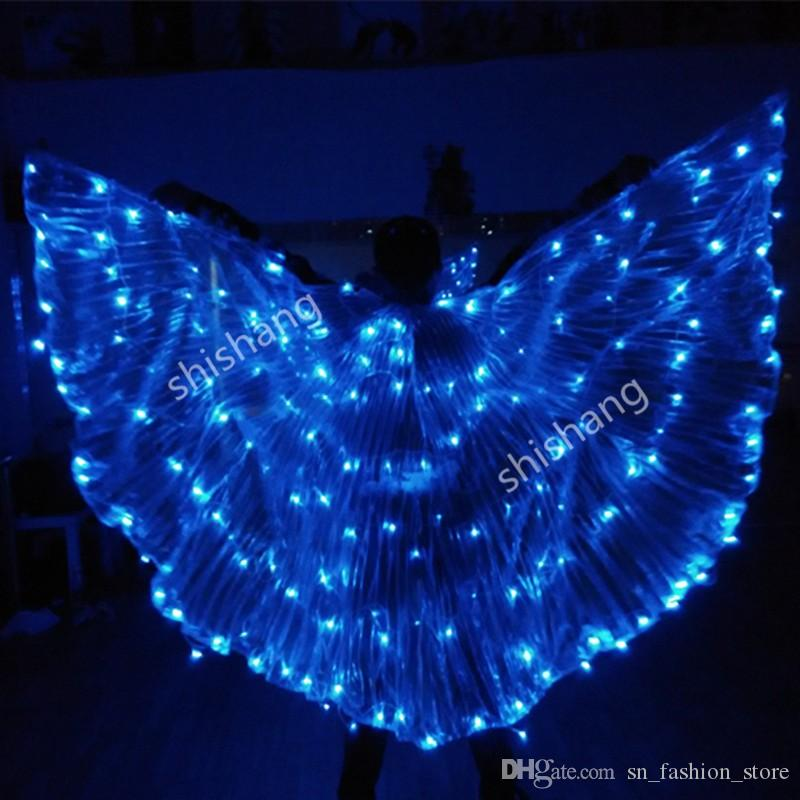 PFful LED light luminous cloak Ballroom dance costumes wing dress suit dj dicso bar stage show party bellydance wears catwalk club