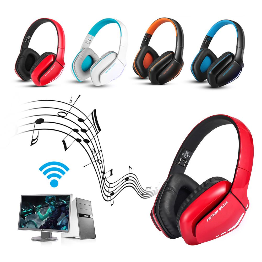 a0871a99a8c KOTION EACH B3506 Wireless Bluetooth Headphones Foldable Gaming Headset  With Mic LED V4.1 Stereo Headsets For PSComputers Best Earbuds Under 50  Best ...