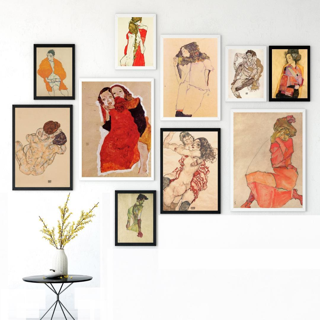 61211b783884c0 2019 Egon Schiele Body Color Delineation Sketch Canvas Art Print Painting  Poster Wall Picture For Living Room Home Decor From Aliceer