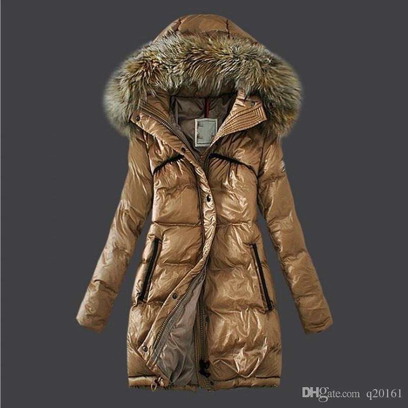 women's Raccoon fur collar top quality winter long coat warm long coat women winter downs jacket Down Parka Coat outerwear coats