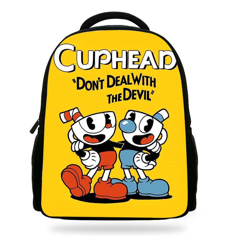 Cartoon Cuphead Mugman Boys Backpack Students School Bags Don T Deal With  The Devil Print Backpacks Children Bag Kids Schoolbags Hype Backpacks  Osprey ... 6ce01aeb7331f