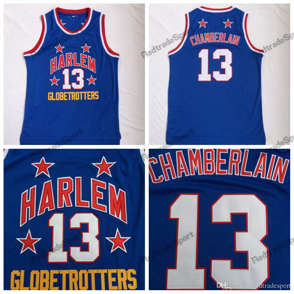 31fb92123 2019 Mens  13 Wilt Chamberlain Harlem Globetrotters Cheap Basketball Jersey  Vintage Blue Wilt Chamberlain Basketball Embroidery Shirt From  Redtradesport