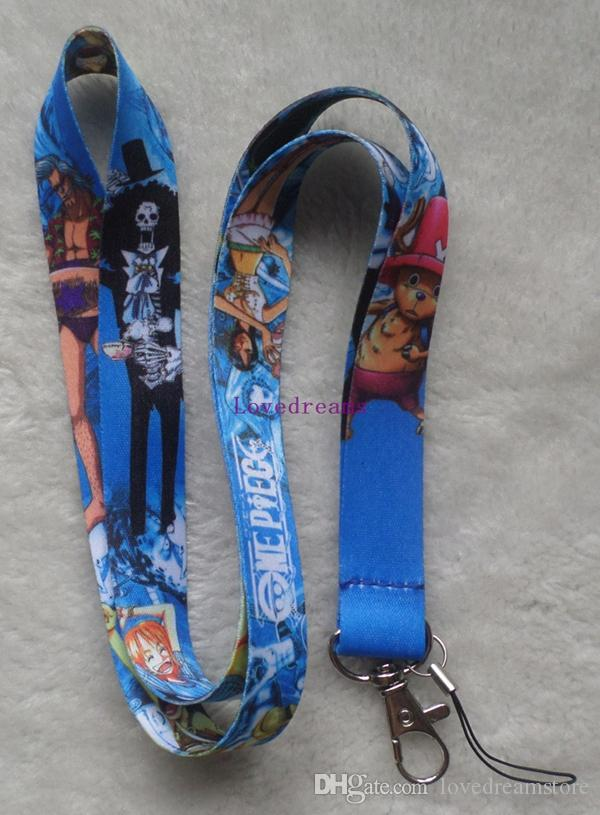 20 ADET One Piece anahtar boyunluklar kimliği rozeti tutucu anahtarlık cep telefonu Ücretsiz kargo için sapanlar