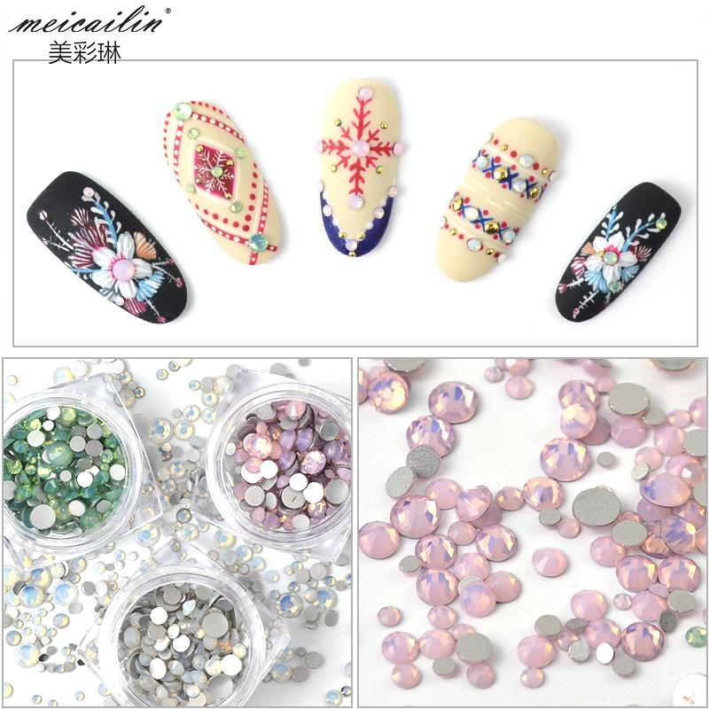Box New Nail Decorations 2018 Strass Diamond Nail Art Storage Mixed