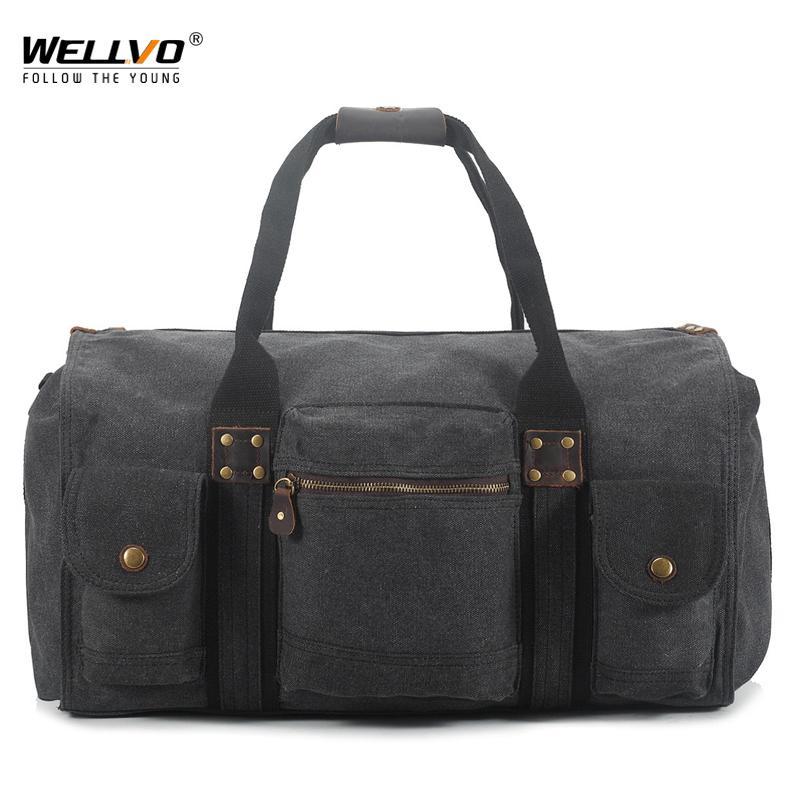 Large Canvas Handbag Men Travel Duffle Shoulder Bags For Men s ... 5ea1fdce8c676
