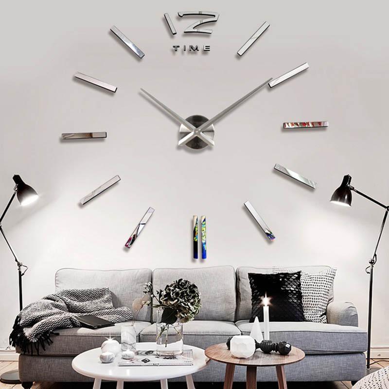 2ca332272de74f Acheter Horloge Murale De Décoration De La Maison Grande Horloge Murale  Acrylique Miroir Moderne Horloges Murales De La Grande Taille De La Salle  De Séjour ...