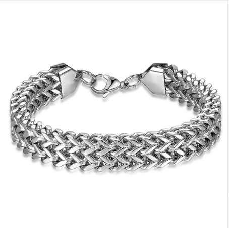 8eee8e50a1a2c Satın Al Erkekler Bilezik Gümüş Renk Paslanmaz Çelik Bilezik Bileklik Erkek  Aksesuar Hip Hop Parti Kaya Takı Hediye, $5.08 | DHgate.Com'da