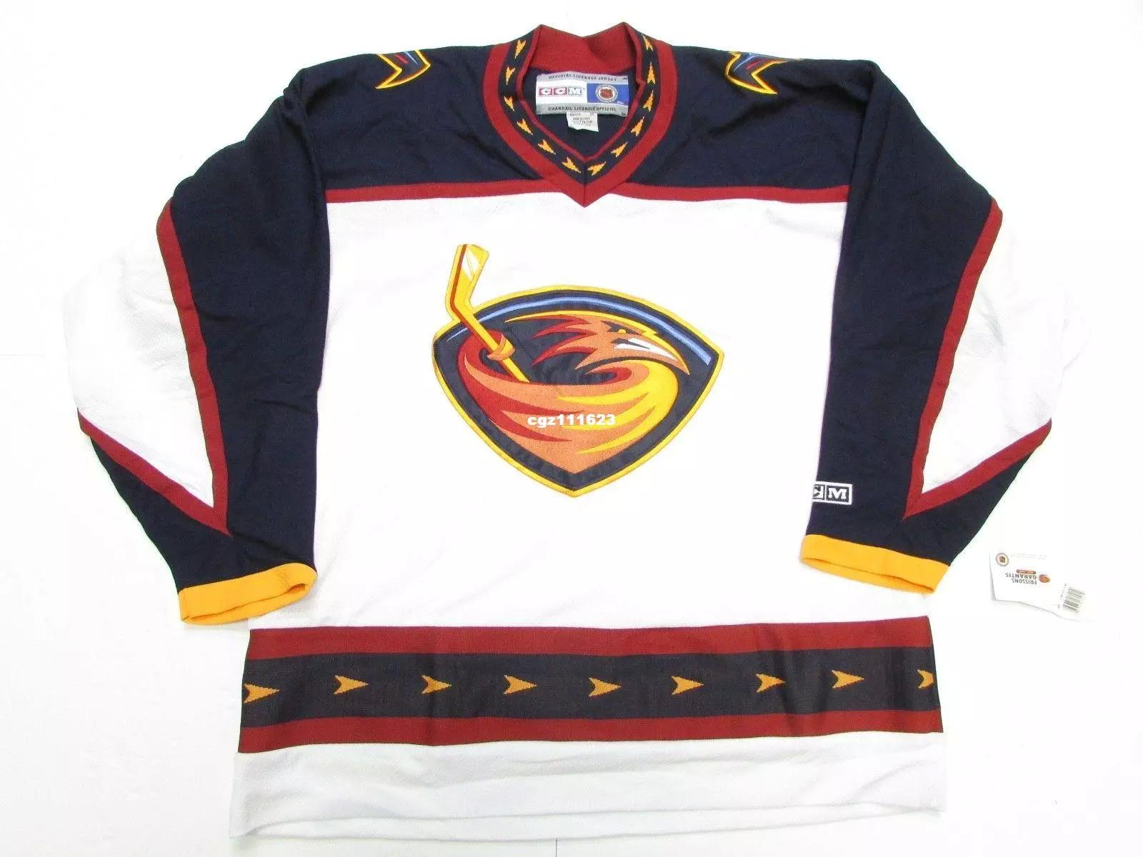 2019 Cheap Custom ATLANTA THRASHERS VINTAGE CCM NHL HOCKEY JERSEY DAMAGED  Mens Vintage Jerseys From Hezongming77 b1d6c2494