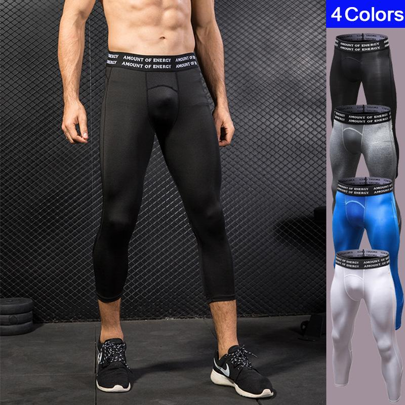 052ac2ece4a 2019 DIQIAN Fitness Mesh Sport Capri Pants Men Breathable Sport Leggings  Gym Bodybuilding Male Running Cropped Trousers Plus Size 2XL From Godefery